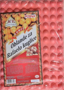 Oblande za rafaelo kuglice u boji - 142 g